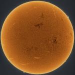 Soleil orange scintillant -