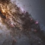 Gros plan sur le centre de Centaurus A