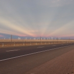 Rayons anticrépusculaires sur le Wyoming
