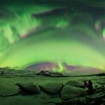 Aurores polaires sur l'Islande