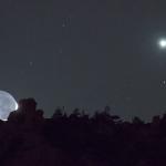 Lumière cendrée et Vénus sur la Sierra de Guadarrama