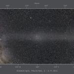 Panorama de lumière zodiacale