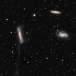 La traîne gravitationnelle de NGC 3628