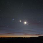 Alignement de planètes et d'étoiles
