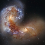 Galaxies en collision