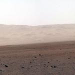 Un rempart du cratère Gale comme s'il était sur Terre
