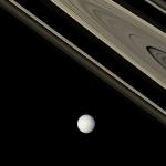 Thétys et les anneaux de Saturne