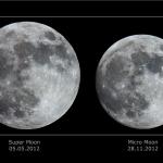 Super Lune et mini Lune