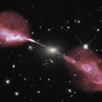 Les jets de plasma de la galaxie radio Hercules A
