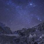 Nuit d'hiver dans la vallée de Yosemite