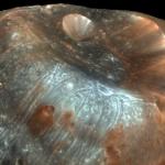 Le cratère Stickney sur Phobos