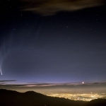 Comète au-dessus du Chili