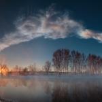 Lever de Soleil sur la rivière Miass -