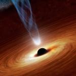 Accélération de trou noir supermassif