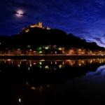 Couronne lunaire sur le château de Cochem