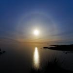 Cercle autour de la super Lune