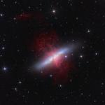 M82, galaxie tempête