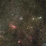 La comète Lemmon dans le ciel profond