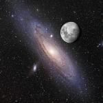 Comparaison Lune - Andromède