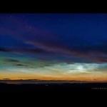 Nuages noctulescents et aurores polaires sur l'Ecosse