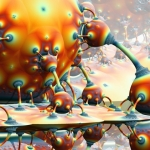 Fantaisie fractale rétro futuriste