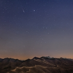 La comète Lovejoy sur la Grande Muraille
