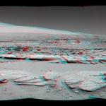 Aeolis Mons à l'horizon