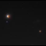 Spica, Mars et une Lune éclipsée -