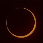 Eclipse annulaire dans l'hémisphère sud