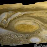 La grande tache rouge de Jupiter vue par Voyager