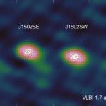 La galaxie aux trois trous noirs