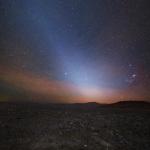 Lumière zodiacale avant l'aube