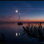 Mars, Antarès, la Lune et Saturne