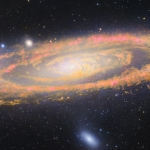 La galaxie d'Andromède dans l'infrarouge ET le visible