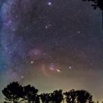 La comète Lovejoy dans un ciel d'hiver