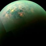 Reflets du Soleil sur les mers de Titan