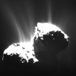 Les jets de la comète