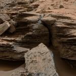 Dépôts sédimentaires près du Mont Aeolis sur Mars