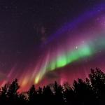 Drapeau d'aurores sur la Suède