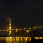 Eclipse de Lune sur le Golden Gate