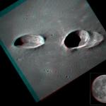 Les cratères Messier en relief