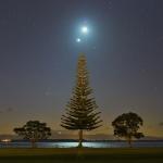 La comète, la Lune et Vénus