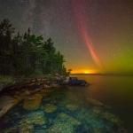 Un arc de protons sur le Lac Supérieur