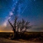Poussière de comète au-dessus d'Enchanted Rock