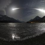 Eclipse de Lune sur les lacs Waterton