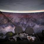 La Terre et la Voie lactée depuis l'espace