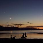Quatre astres dans le ciel de Great Salt Lake