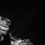 Jet bref sur la comète de Rosetta