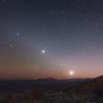 Planètes du matin sur l'écliptique