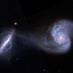 Arp 87, galaxies en voie de fusion